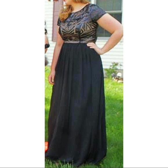 Decode Dresses | Plus Size Black Illusion Prom Dress | Poshmark